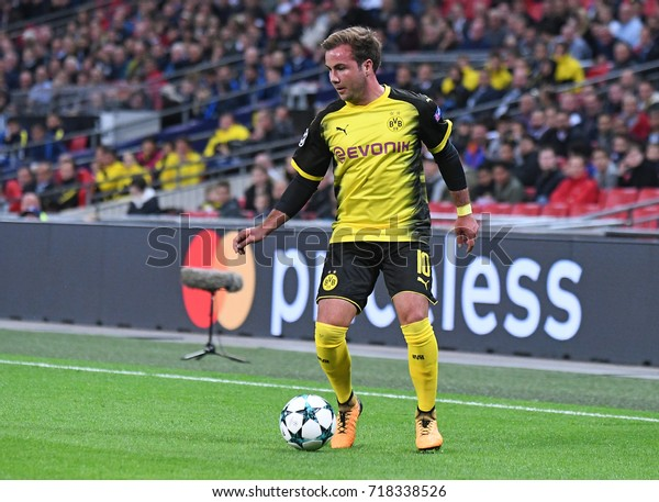 LONDON, UK - SEPTEMBER 13, 2017: Mario Gotze  pictured during the UEFA Champions League Group H game between Tottenham Hotspur and Borussia Dortmund at Wembley Stadium.