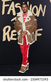 LONDON, UK. September 14, 2019: AJ Tracey at the Fashion for Relief Show 2019 at the British Museum, London.