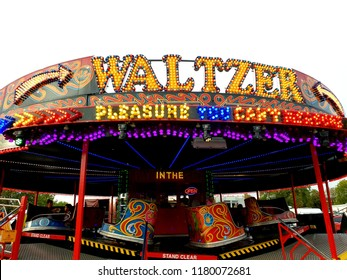 London, UK, September 15th 2018: waltzer ride at peckham rye park in South London
