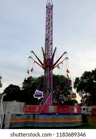 London, UK, September 15th 2018: star flyer ride at peckham rye park in South London