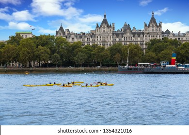 LONDON, UK - September 17, 2016: London is the capital and largest city of England and United Kingdom. London is the most visited city in the world and has a wealth of historic sites and landmarks.