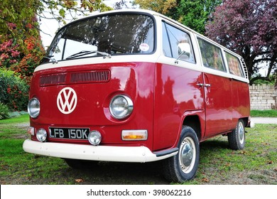 London, UK - September 18, 2010: View of a 1960s era VW Transporter Van Type 2 or Kombi T2 parked on a driveway. The famous German manufactured auto is popular among motor enthusiasts and collectors.