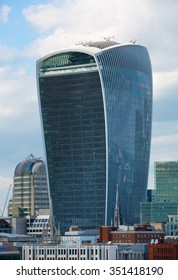 LONDON UK - SEPTEMBER 19, 2015 - City of London view, Walkie Talkie building