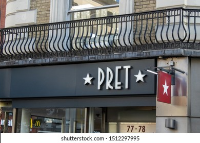 London, UK, September 20, 2019, Pret a Manger an international sandwich shop chain based in the United Kingdom.
