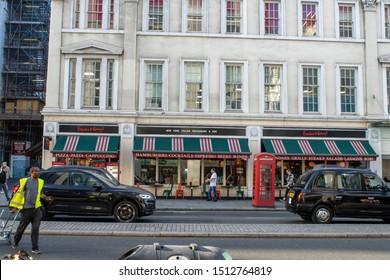 London, UK, September 20, 2019, Frankie and Benny's Italian Restaurant in Central London