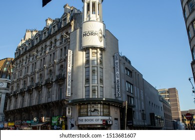 London, UK, September 20, 2019, The Prince of Wales Theatre in the West End in Coventry Street, near Leicester Square London. Showing The Book of Mormon.