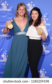 LONDON, UK. September 21, 2018: Jennifer Kehoe & Menna Fitzpatrick at the National Lottery Awards 2018 at the BBC Television Centre, London.