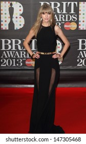 London, UK.  Taylor Swift   at    the 2013 Brit Awards held at the O2 Arena in North Greenwich. 21 February 2012.