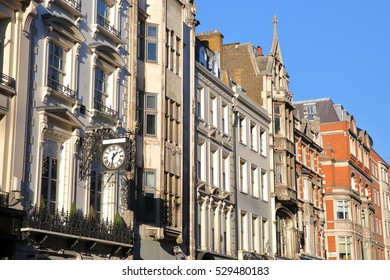 LONDON, UK: Victorian houses facades in the borough of Westminster