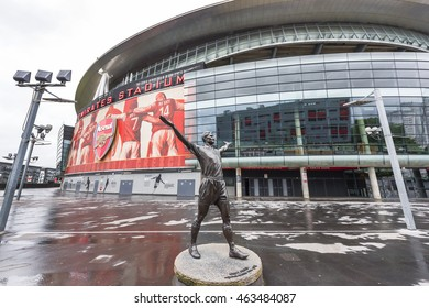 LONDON, THE UK-CIRCA MAY 2016: The Emirates stadium - official playground of FC Arsenal