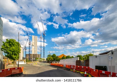 London U.K.circa May 2019North Acton is becoming the next massive Development of Apartments and housing, both private and government funded as well as the main Hub for the High Speed Railway Network