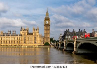 London, UK-July 04, Big Ben, July 04.2014 in London
