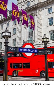 London, UK-July 10, London Underground, July 10.2013 in London