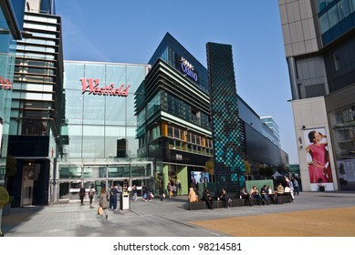 LONDON, UK-MARCH 15: View of Westfield Stratford City, Now the Official Shopping Centre of London 2012. The largest urban shopping centre is adjacent the Olympic park.March 15, 2012 in London UK