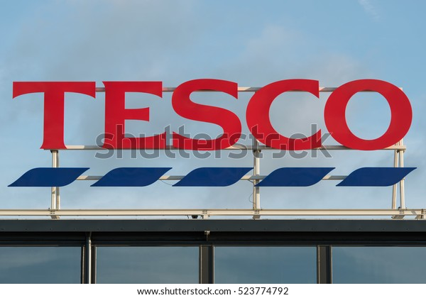 London Uknovember 26 2016 Tesco Logo Stock Photo (Edit Now