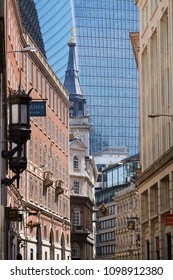 London / United Kingdom - 05 19 2018: fascinating contrast of modern and old architecture
