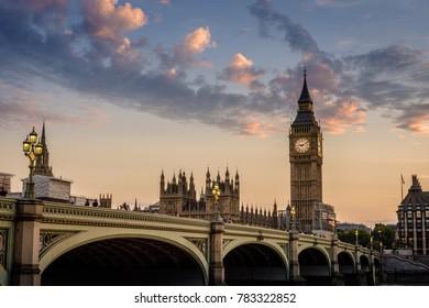 London, United Kingdom - 05 Jul 2017: Palace of Westminster, Big ben