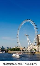 London, United Kingdom - 05 Jul 2017: London Eye