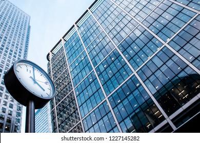 London / United Kingdom - 11.8.2018: Canary Wharf Jubilee Place