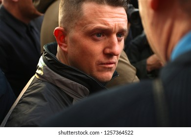London / United Kingdom - 12.09.18 Tommy Robinson joins the Brexit Betrayed Rally organised by UKIP in London