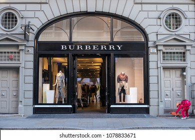 London. United Kingdom - 13 September 2017: Exterior front view of Burberry store at London. Burberry is a British luxury fashion house.