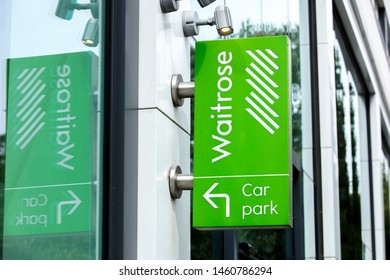 London, United Kingdom, 17th July 2019, Waitrose Sign in central london