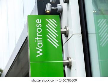 London, United Kingdom, 17th July 2019, Waitrose Sign