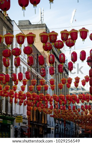 London, United Kingdom, 18th Febuary 2018:- Festivities to celebrate Chinese New Year in London's Chinatown area and surrounding streets, for the year of the dog 2018