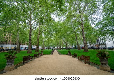 London, United Kingdom - 2019: Berkeley Square. No people.