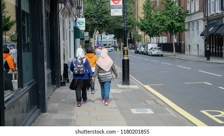 London, United Kingdom: 22/08/2018; Asian tourists spotted at the City of London during summer holiday.