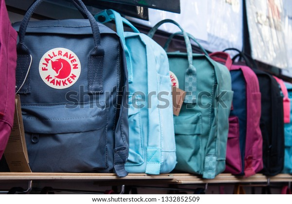 pretty cheap good out x outlet on sale London United Kingdom 2232019 Fjallraven Kanken Stock Photo ...