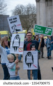 London -London , United Kingdom - 23 March , 2019: Peoples Vote March in   London. - Image