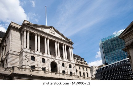 London, United Kingdom 6th July 2019: Bank of England on Threadneedle Street