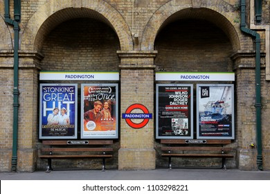 London, United Kingdom - April 13, 2014 - The structure of Paddington subway  station