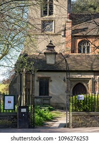 London, United Kingdom - April 16 2018: The Old Church is the only surviving Elizabethan Church in London and one of the oldest in the country to have been built as an Anglican church.