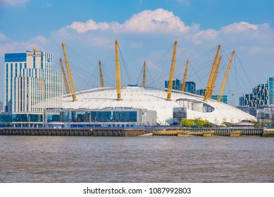 LONDON, UNITED KINGDOM - APRIL 20: View of the o2 Arena, a famous entertainment complex in Greenwich on April 20, 2018 in London
