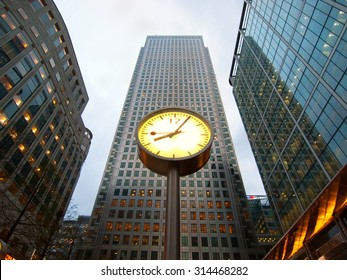 London, United Kingdom - April 29, 2008 : Canary Wharf is one of the two major business districts in London. Shot is taken at late afternoon, minutes before the end of the working day.
