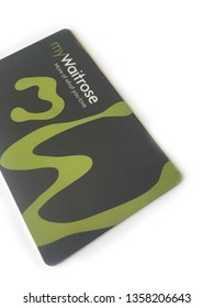 London, United Kingdom - April 3rd 2019: Waitrose myWaitrose store loyalty card on a white background