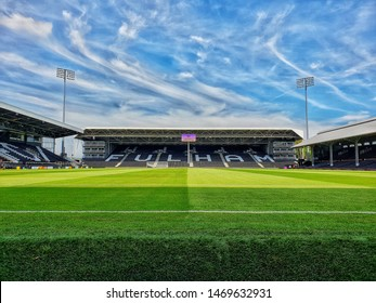 London, United Kingdom - August 04 2018: The Craven Cottage before the breakdown of the Riverside stand.