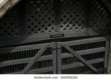 London, United Kingdom - August 12 2015:Traitor's Gate at the Tower of London