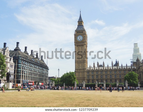 London, United Kingdom - August 22: Westminster and The Big Ben.