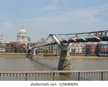 London, United Kingdom - August 24: The Millenium Bridge.