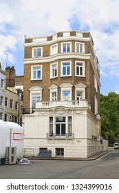 London, United Kingdom - August 24, 2012: Archive photo of Selwyn House, which is a residential building in St James's, adjacent to Green Park. It was designed by Norman Shaw, built in 1904