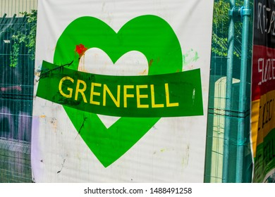 London / United Kingdom - August 26th 2019: Homage to Grenfell Tower tragedy at the 53rd edition of Notting Hill Carnival