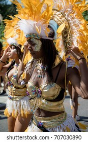 London, United Kingdom - August 27, 2017. Notting Hill Carnival in West London is now one of the largest street parties in Europe and it is now in its 51st year.