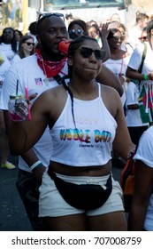 London, United Kingdom - August 27th, 2017. Notting Hill Carnival located in West London is now one of the largest street parties in Europe and is now in its 51st year.