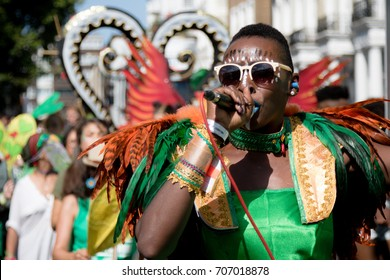 London, United Kingdom - August 27th, 2017. Notting Hill Carnival in West London is one of the largest street parties in Europe and it is now in its 51st year.