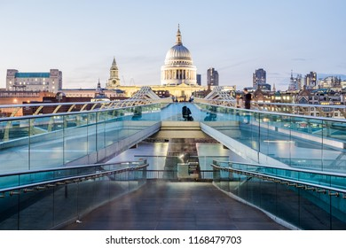 London, United Kingdom - August 29 2018: Millenium Bridge