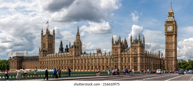 LONDON, UNITED KINGDOM - AUGUST 4: The Palace of Westminster on August 4, 2014 in London. The Palace of Westminster is the Parliament of the United Kingdom.