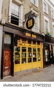London, United Kingdom. August 8, 2019. Mau Mau Bar, Portobello Road, Notting Hill.